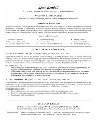 Accounts Payable Clerk Resume Accounts Payable Clerk Resume