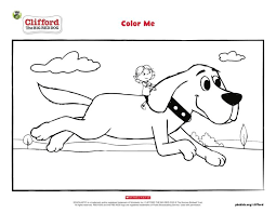 Artistic or educative coloring pages ? Clifford And Emily Elizabeth Coloring Page Pbs Kids For Parents