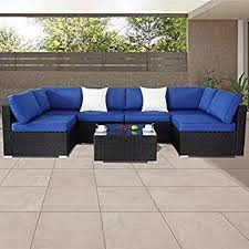 pe rattan wicker sofa sectional