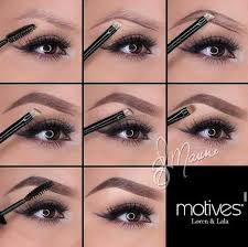 have you achieved perfect brows yet off with clean groomed brows take motives 212 spoolie brush to b hairs in same direction motives essential brow kit