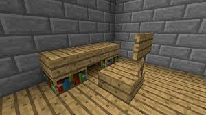 how to make a chair in minecraft. Simple Minecraft Furniture Desk. How To Make A Chair In