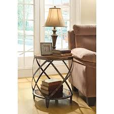 round side tables for living room. coaster home furnishings casual accent table, oak and red brown round side tables for living room l