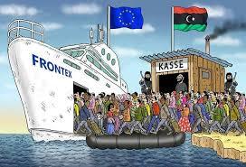 Afbeeldingsresultaat voor regime change vluchtelingen cartoon