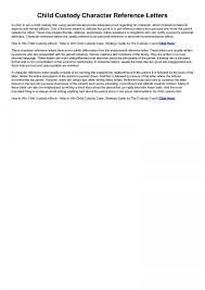 Child Custody Letter Sample Astounding Child Custody Letter Template Ideas Temporary