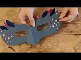 How To Make Face Mask From Chart Paper How To Make Paper Masquerade Mask