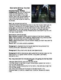 haunted house descriptive writing by the essentials tpt haunted house descriptive writing