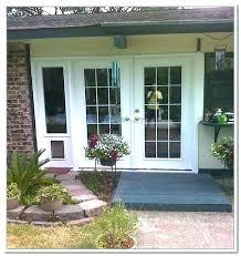 sliding glass door dog insert with built in doors extraordinary french doggie bunnings doors remarkable french door dog