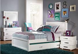 teen bedroom sets. quake white 5 pc full panel bedroom - sets teen t