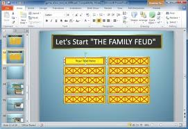 Powerpoint Game Show Template Family Feud Powerpoint Template