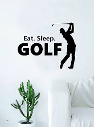 eat sleep golf silhouette e wall decal sticker bedroom living room art vinyl teen sports tee