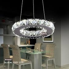 modern silver crystal ring led chandelier pedant crystal lamp light lighting fixture modern led circle light chandelier for deer antler chandelier