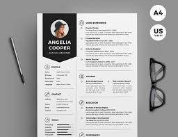 Resume 2017 Beauteous Best Of 60 Stylish Professional CV Resume Templates