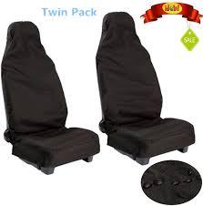 100 waterproof nylon front universal car van heavy duty protectors seat covers 1 of 5free