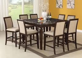 dining room sets counter high. acme agatha 9pc black marble top counter height dining room set in espresso sets high