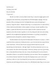 martin luther king s ideas essay fighting for peace and 6 pages us hist why we can t wait
