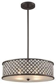 elk lighting genevieve 4 light chandelier oil rubbed bronze