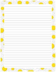 printable daisy stationery and writing paper pdf s  printable daisy stationery and writing paper pdf s at stationerytree