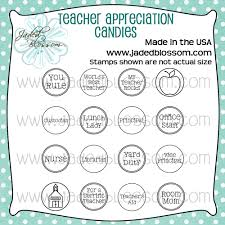 Teacher Appreciation Candies Photopolymer Stamp For Card Making