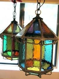 stained glass outdoor light fixtures art lighting best lamps images on solar antique arts and crafts