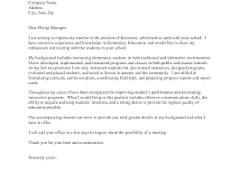 Cover Letters For Teachers Letter Aide Examples Teacher Assistant
