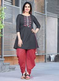 Dhoti Kurti Design For Girl Dhoti Kurtas Set Kurtis Myntra