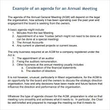 Business Meeting Agenda Template 5 Download Free Documents In Pdf