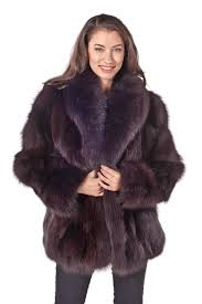 real fox fur jacket natural brown fox fur shawl collar