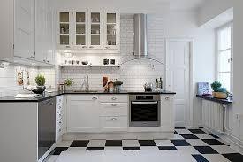 Fabulous Black And White Tile Kitchen and White And Black Tiles For Kitchen  Design Subway Black White