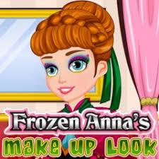 frozen anna s make up look at flashgames