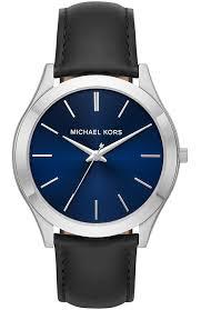men s watch michael kors slim runway black leather strap mk8620 e oro gr michael kors watches