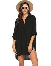 Ekouaer Swimsuit Cover Up Henley Shirts Beachwear