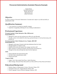 Beautiful Administrative Assistant Summary Resume Personal Leave