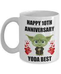 gifts favors enchanting year 10th wedding anniversary gifts for yoda best mugs ideas