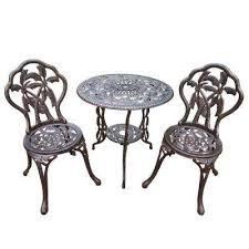 White iron outdoor furniture Balcony Palm Heritagehymnsinfo Cast Iron Patio Dining Furniture Patio Furniture The Home Depot