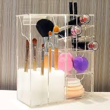 Ikee Design Premium Acrylic Multi-functional Makeup Organizer Brush Holder  ...