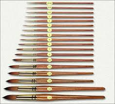 Art Paint Brush Size Chart Hints And Tips Brushs