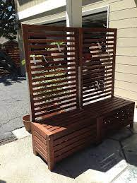 free standing trellis with bench ikea