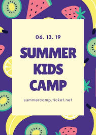 Purple Tropical Fruits Summer Camp Flyer Templates By Canva