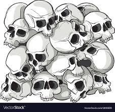 Skull Pattern Interesting Skull Pattern Royalty Free Vector Image VectorStock