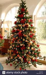 Decorating Christmas Tree With Balls Large Christmas Tree Decorated With Christmas Balls Im Weller 5