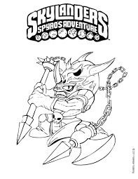 Skylanders Coloring Page Voodood