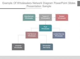 Example Of Wholesalers Network Diagram Powerpoint Slides