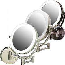 ovente wall mounted vanity mirror with dimmable lights 7 5 inches mlw75 series