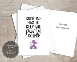 Birthday Greetings Download Free Impressive PRINTABLE Funny Birthday Card INSTANT DOWNLOAD Digital Belated Etsy