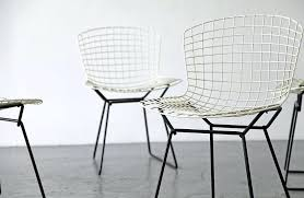 harry wire chairs bertoia chair vintage four by for knoll