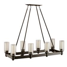 kichler lighting 8 light circolo rectangle chandelier view larger