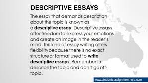 types of essays descriptive essays studentsassignmenthelp com