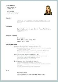Example Of Simple Resume Gorgeous Simple Example Of Resume Basic Resume Samples Basic Job Resume