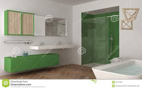 Unbedeutendes Helles Badezimmer Mit Doppelter Wanne Dusche Und