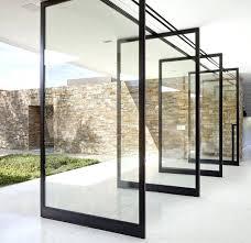 modern glass doors contemporary abstract door insert french uk